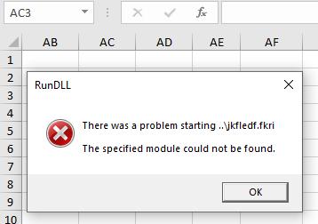 rundll error pop-up